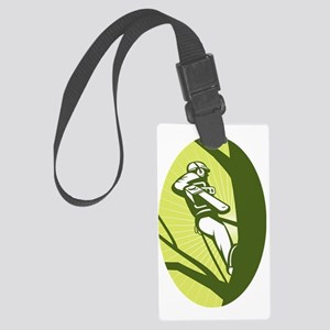 tree surgeon or arborist chainsa Large Luggage Tag