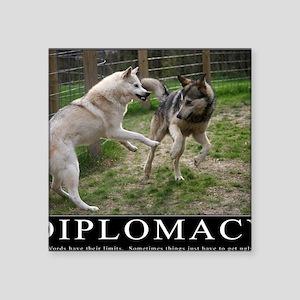 "Diplomacy Square Sticker 3"" x 3"""