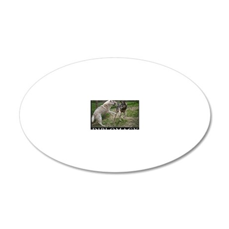 Diplomacy 20x12 Oval Wall Decal