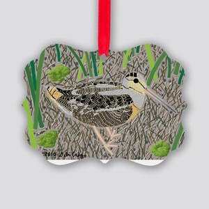 Woodcock Picture Ornament