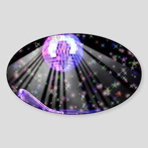 1243 new Glass Slipper with stars a Sticker (Oval)