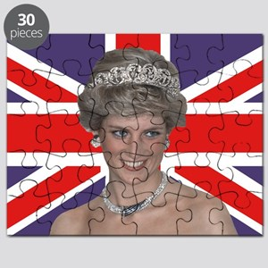 Princess Diana flying the Flag Puzzle