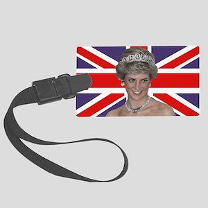 Princess Diana flying the Flag Large Luggage Tag