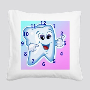 ThumbsUpClock3 Square Canvas Pillow