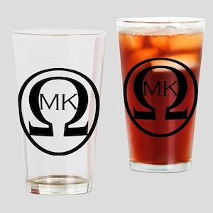 mkLogolighttshirt-blk Drinking Glass