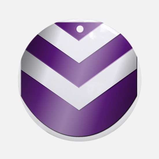 Nep-Transparent-Crest-Only Round Ornament
