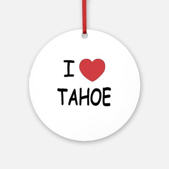 TAHOE Round Ornament