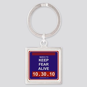 marchtokeepfearalive3 Square Keychain