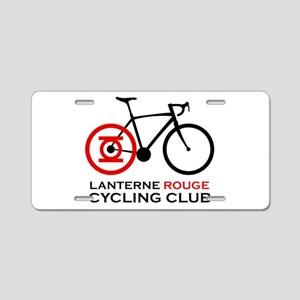 Lanterne Rouge Cycling Club Aluminum License Plate