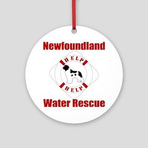HelpLandseerHelp Round Ornament