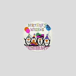 PENGUINBDAY4 Mini Button