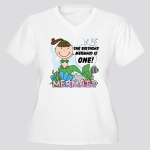 mermaidone Women's Plus Size V-Neck T-Shirt