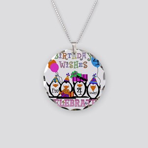 PENGUINBDAY4 Necklace Circle Charm
