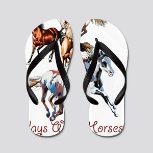 Plays With Horses Flip Flops