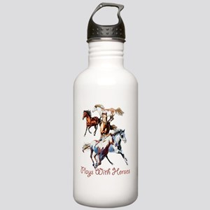 Plays With Horses Stainless Water Bottle 1.0L