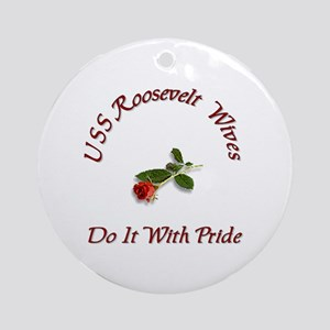 uss roseavelt wives Ornament (Round)