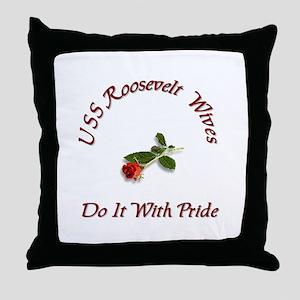 uss roseavelt wives Throw Pillow