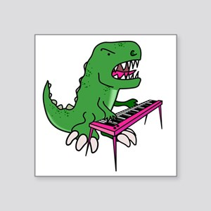 "t-rex piano t-shirt Square Sticker 3"" x 3"""
