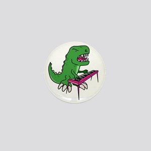 t-rex piano t-shirt Mini Button