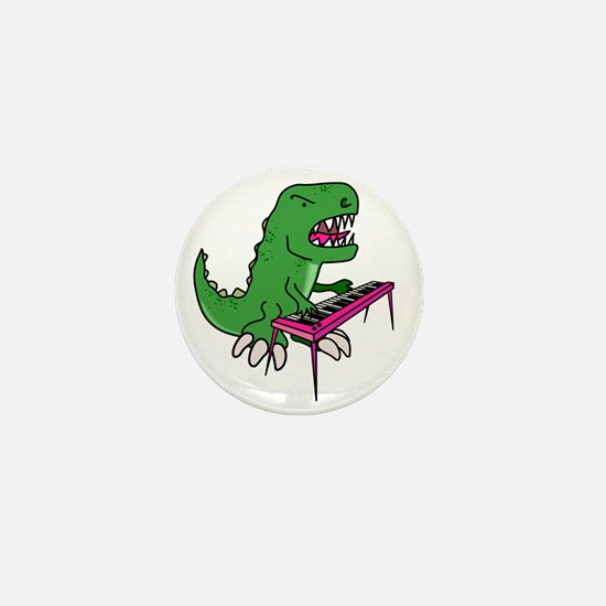 t-rex piano t-shirt Mini Button