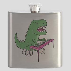 t-rex piano t-shirt Flask