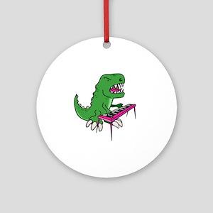 t-rex piano t-shirt Round Ornament