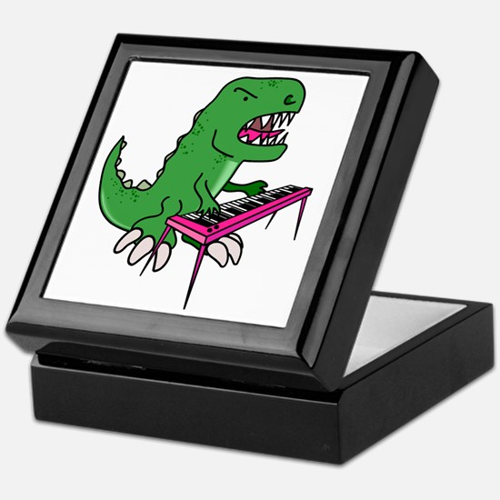 t-rex piano t-shirt Keepsake Box