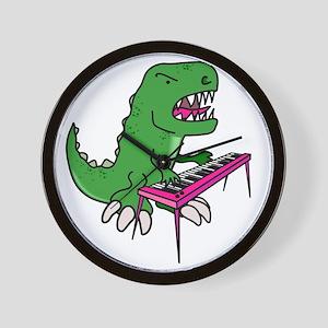 t-rex piano t-shirt Wall Clock