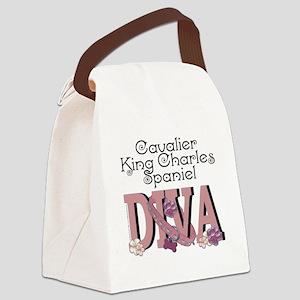 CavalierKingCharlesSpanielDIVA Canvas Lunch Bag