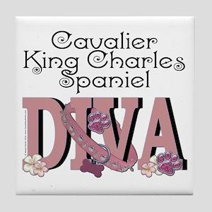 CavalierKingCharlesSpanielDIVA Tile Coaster