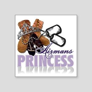 "Airmans Princess Square Sticker 3"" x 3"""
