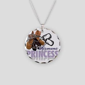 Airmans Princess Necklace Circle Charm
