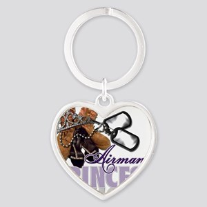 Airmans Princess Heart Keychain
