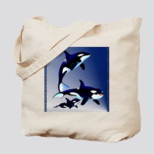 Killer Whale Family_pillow Tote Bag