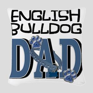 EnglishBulldogDAD Woven Throw Pillow