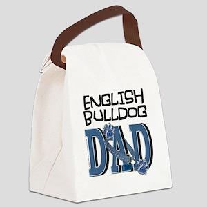 EnglishBulldogDAD Canvas Lunch Bag