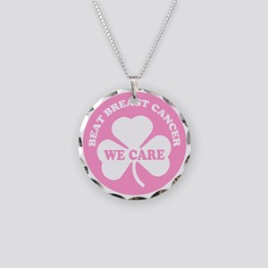 beat breast cancer Necklace Circle Charm