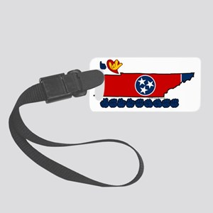 TNstateFlagILY Small Luggage Tag