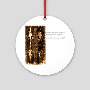 Matthew 3-15 - Latin Round Ornament