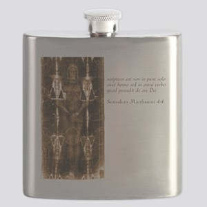Matthew 4-4 - Latin Flask