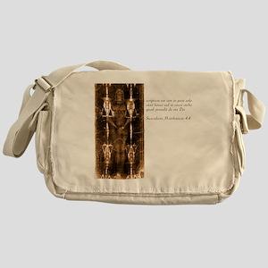 Matthew 4-4 - Latin Messenger Bag