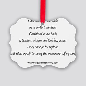 body perfect creation text Picture Ornament
