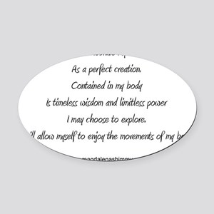 body perfect creation text Oval Car Magnet