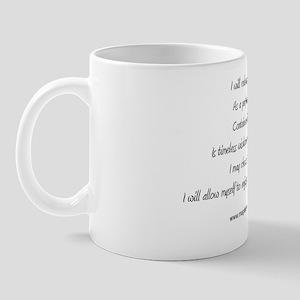 body perfect creation text Mug