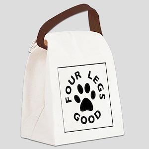 FourLegsGood_Logo LARGE Canvas Lunch Bag