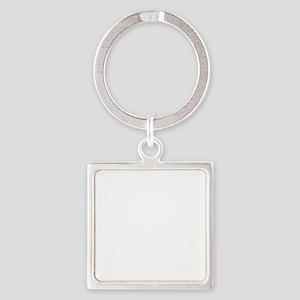 FourLegsGood_Logo_whiteLARGE Square Keychain