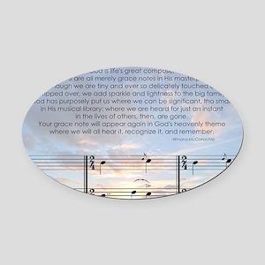 Grace Note l4x10 copy Oval Car Magnet