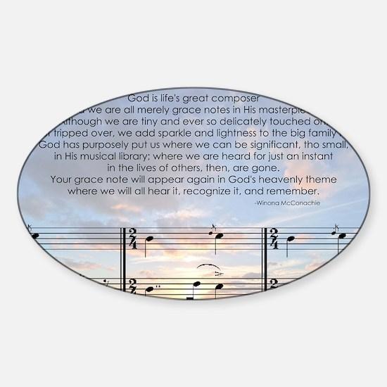 Grace Note l4x10 copy Sticker (Oval)