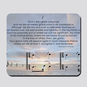 Grace Note l4x10 copy Mousepad