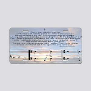 Gods Grace Note Aluminum License Plate